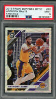 Anthony Davis Los Angeles Lakers 2019 Panini Donruss Optic Fanatic Card 90 PSA 9