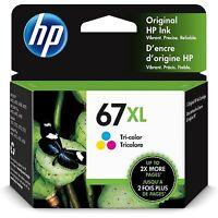 HP 67XL High Yield Original Ink Cartridge, Tri-color (3YM58AN)