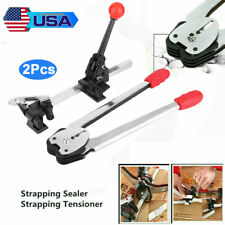 2 Pcs Manual Strapping Machine Set Packing Tool for PP Strap Sealer & Tensioner