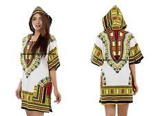 Dashiki Hoodie T-Shirt African Festival Hippie Poncho Mexican Kaftan Mens Womens