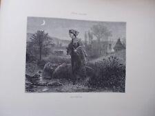 Gravure 19° in folio:Retour de la fête  par GUSTAVE JUNDT