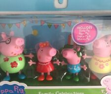 """Peppa Pig """"Family Celebrations"""".  4 pack Figurines. NEW"""