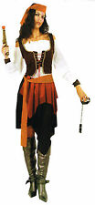 Caribbean Pirate Women Costume Adult Outfit Fancy DressUp Halloween Party D2001B