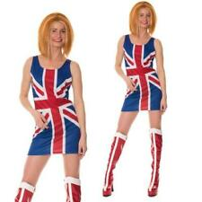 Ginger Spice Girls Costume 90s Union Jack Ladies Womens Fancy Dress Ginger Wig