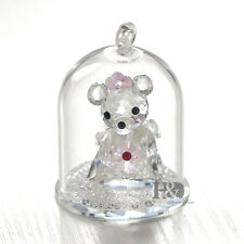 Bear Crystal Hanging Christmas Ornament Decor Figurine Paperweight Xmas Gift