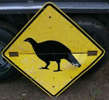 OLD TRAFFIC ROAD Mallee Fowl Lowan Bird SIGN  suit man cave about 60x60cm
