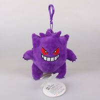 13Cm Gengar Pokemon Plush Toys Soft Stuffed Doll Key Chain Pendant Bag Strap New