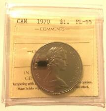 CANADA 1970 PROOF LIKE $1 ONE DOLLAR ICCS GRADED PL-65