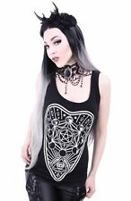 Cotton Blend Graphic Tee Gothic T-Shirts for Women