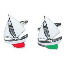 Mixed Pair of red and Green Port & Starboard Yachts Cufflinks & Gift Pouch