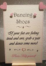Personalised Wedding Flip flop dancing shoes basket sign decoration