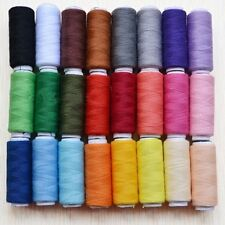24 Color 100% Cotton Spools All Purpose Polyester Sewing And Quilting Threads