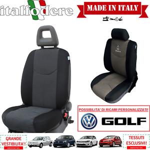 COPPIA COPRISEDILI Specifici Volkswagen GOLF Foderine ANTERIORI GOLF Nero 38