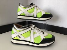 Jimmy Choo Sneakers Runners Size 39.5 Uk 6.5 Black Yellow  Shoes Vgc