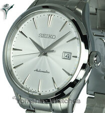 SEIKO SUPERIOR AUTO SATIN WHITE FACE WITH STAINLESS STEEL BRACELET SRP701J1