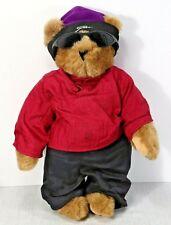"VERMONT Teddy Bear Co. Hand Made SNOWBOARD BEAR STOWE CAP Tan 16"" EUC!  (C4)"