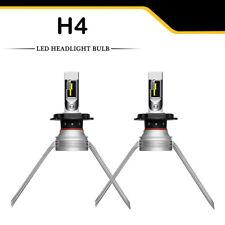 2x H4 9003 60W 7200LM LED Headlight Kit Hi/Lo Beam Bulb 6000K Cooling Strobe