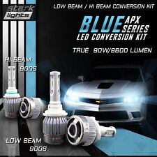 9006 9005 4PCS Stark LED APX 90W 96000LM Headlight High Bulbs 8000K Blue Kit