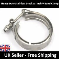 """PREMIUM 2.5"""" Inch 63mm V-band Clamp Turbo Flange Female Male Stainless Exhaust"""