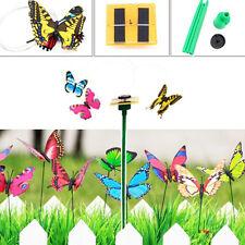 3Pcs Cute Solar Powered Flying Fluttering Color Butterflies Garden Plants Decor