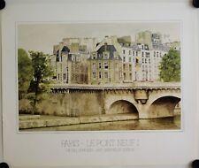 Affiche MICHEL DUVOISIN - PARIS LE PONT NEUF I