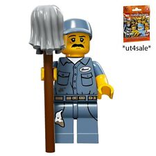LEGO 71011 MINIFIGURES Series 15 #9 Janitor with unused code