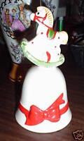 Porcelain Rocking Horse Good George Ringing Bell LOOK