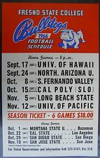 1966  Fresno State College Football Schedule Poster