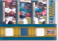 david garrard maurice jones drew mike thomas 3x jersey patch jaguars #/200