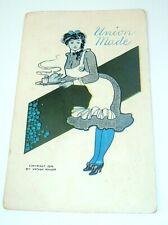 1908 VTG Postcard Union Made risque maid Nathan Ringer
