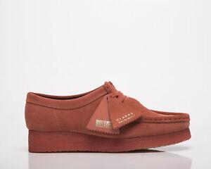 Clarks Originals Wallabee Women's Dark Blush Suede Low Lifestyle Shoes Boots