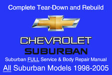 Chevrolet Suburban 1998 - 2005 Service Repair Workshop Manual Maintenance GM DVD