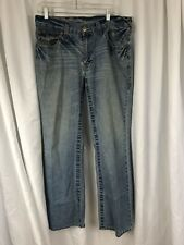 True Relgion Billy Mens Blue Denim Distressed Jeans sz 36 Inseam 30 Made in USA
