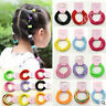 50/100 Girls Baby Sngless Cotton Hair Ties Hair bands For Ponytail Holder