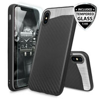 For iPhone XS Max/XR/X Magnetic Backplate Phone Case Cover+Clear Tempered Glass