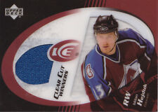 03-04 UD Ice Milan Hejduk Jersey Clear Cut Winners Avalanche 2003