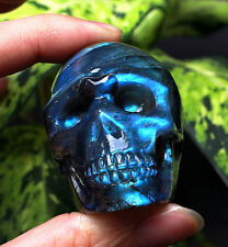 129g Amazing Natural Labradorite Crystal Skull Healing1225