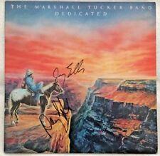 """Autographed The Marshall Tucker Band """"Dedicated"""" Vinyl Jerry Eubanks & Doug Gray"""