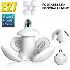 E27 LED Garage Light Bulb Deformable Ceiling Fixture Lights Shops Workshop Lamp