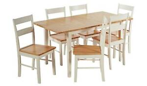 Chicago Solid Wood Extending Table & 6 Chairs