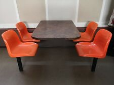 4 Seater Takeaway/cafe Table And Chairs (4 available)
