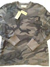 DENIM & SUPPLY RALPH LAUREN Gray Camouflage L/S Thermal SHIRT sz 2XL NWT Ret $59