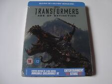 Transformers Age of Extinction 3D Blu-Ray DEBOSSED SteelBook NEW & SEALED ESexcl