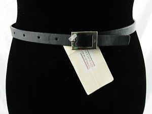 Emporio Armani Womens Black Leather Belt