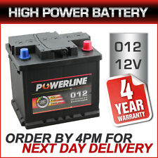 012 Car Battery fits many Honda Hyundai Mazda Mini MG Mitsu Nissan Peug Renault