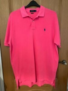 Gents Ralph lauren Pink Polo Shirt Size X Large