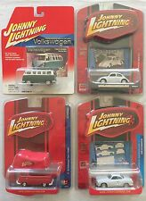 johnny lightning Iconic Volkswagen Bus/Beetle/Pick up/Karmann Ghia... set of 4
