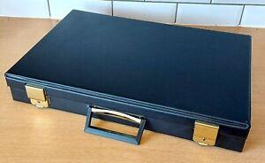 Black Cassette Tape Briefcase, Storage, Holder, Vinyl, 60 Tapes, Large