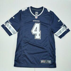 Nike NFL Dallas Cowboys Dak Prescott #4 On Field Jersey Sz S Blue Tee Mint Con