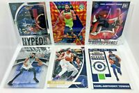 Karl-Anthony Towns 6 Card Lot 2019-20 Prizm Inserts, Reactive Orange Prizm & ETC
